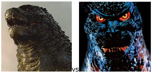 GODZILLA DESIGN TOURNAMENT - Round 10 - 2014 vs. 1995