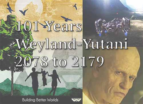 101 Years, Weyland-Yutani 2078 to 2179 Timeline
