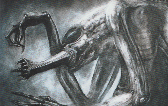 Giger's early design for the first Alien