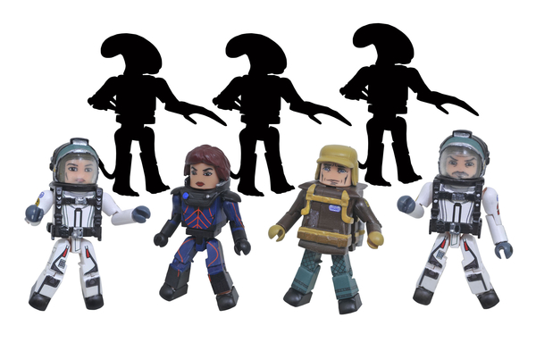 Alien: Covenant Minimates, Including Dr. E Shaw From Diamond Select Toys!