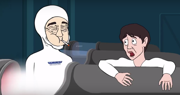 Alien: Covenant cartoon (what if James Franco survived)