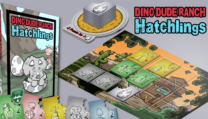 Dino Dude Ranch -  a dinosaur themed family board game