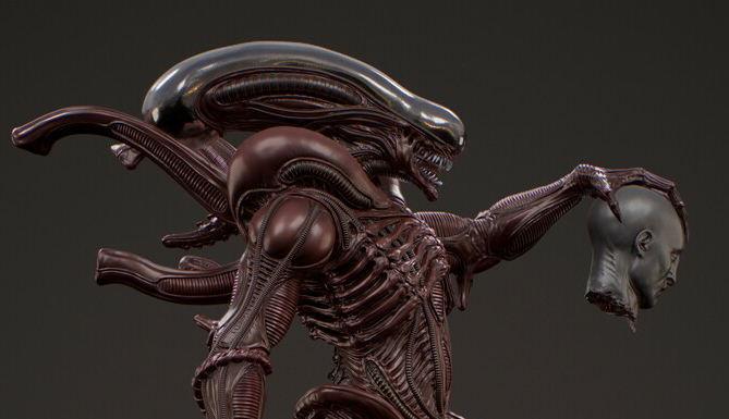 Fan Art gives Xenomorph a thick, athletic build
