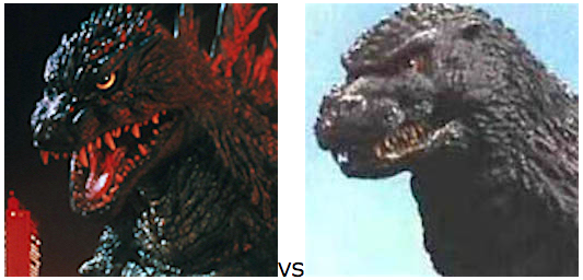 GODZILLA DESIGN TOURNAMENT - Round 4 - 1999 vs. 1993