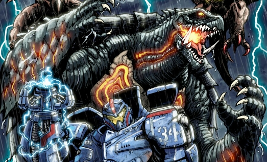Pacific Rim meets Gamera in epic print by Matt Frank
