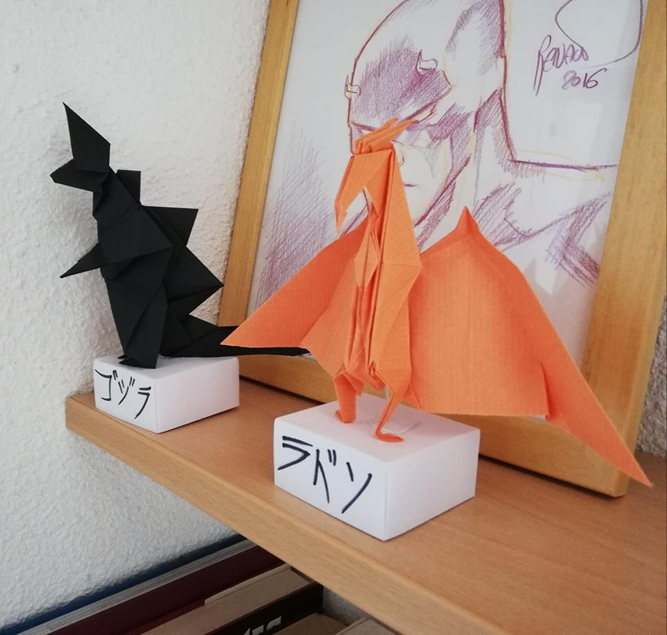 My Godzilla and Rodan origami