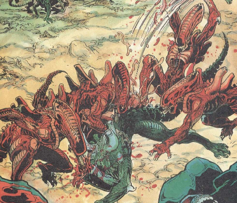 Are the red xenomorphs specifically targeting classic Xenos?