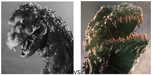 GODZILLA DESIGN TOURNAMENT - Round 19 - 1954 vs. 2016