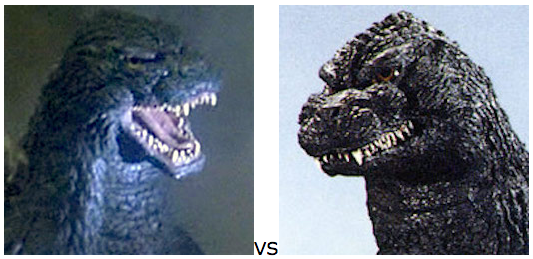 GODZILLA DESIGN TOURNAMENT - Round 9 - 1992 vs. 1991