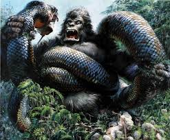 King Kong Vs Giant Snakes