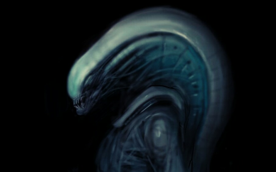 Interesting Alien / Prometheus inspired artwork by Carlos Huante...