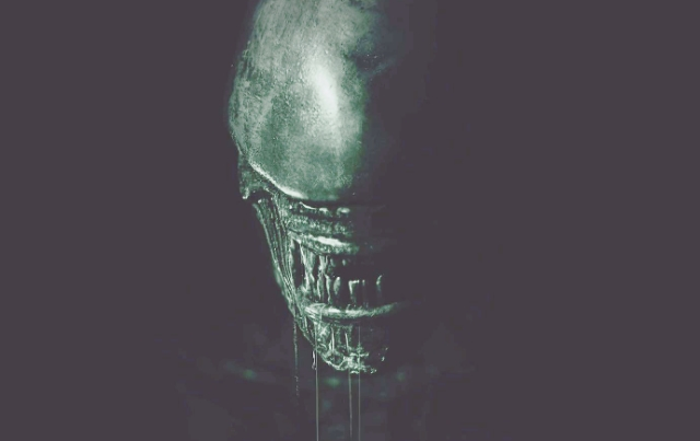 Lightened Alien: Covenant Xenomorph Poster