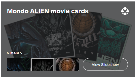 COLLECTIBLE ALIEN MOVIE CARDS FROM MONDO