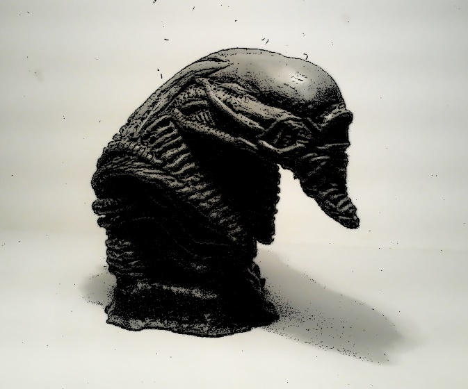 Sculpting the Xeno-Sphinx. Part 1 (My Own Artwork)