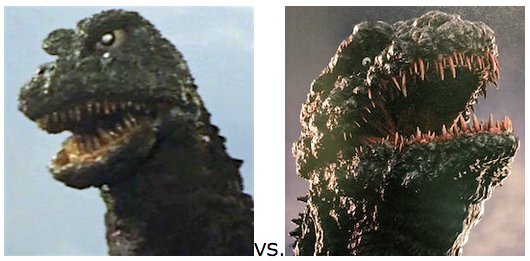 GODZILLA DESIGN TOURNAMENT - Round 2 - 1968-72 vs. 2016