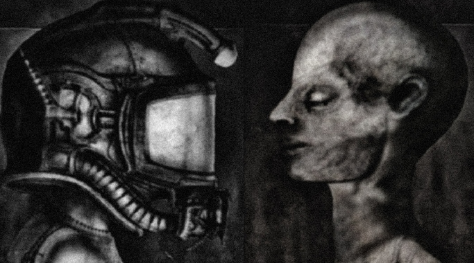 Unused designs by H.R.Giger for Alien recreated/photo manipulated by me