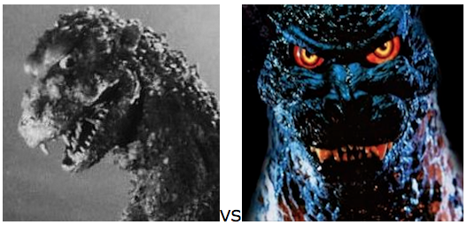 GODZILLA DESIGN TOURNAMENT FINAL ROUND - 1954 vs. 1995