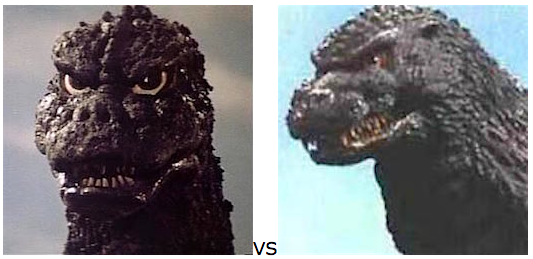 GODZILLA DESIGN TOURNAMENT - Round 13 - 1975 vs. 1993