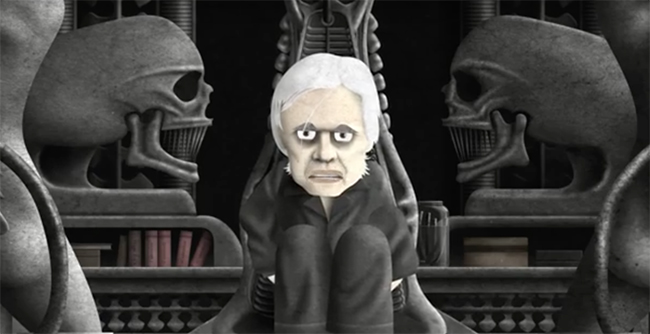 H.R. Giger At Home,