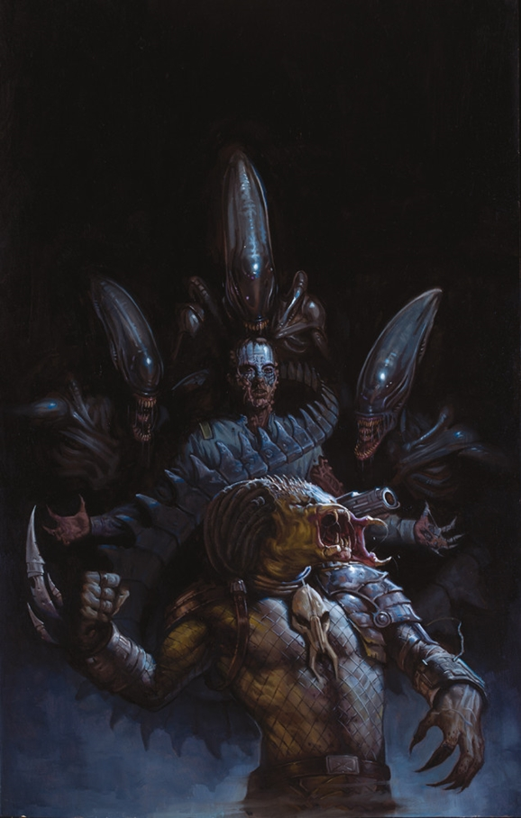 Unused deacon concept designs from fire and stone comics for Prometheus xenomorph mural