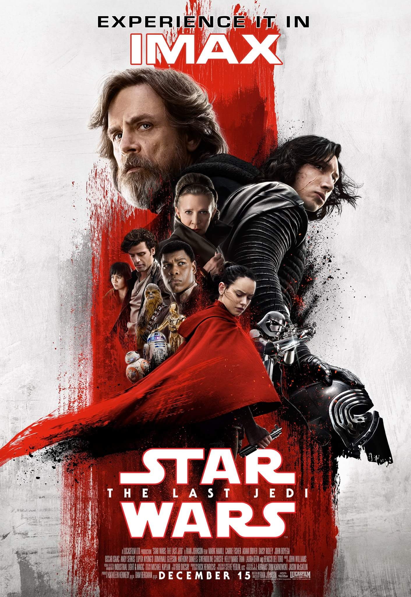 Star Wars The Last Jedi Imax Poster Debuts Online Star Wars The Rise Of Skywalker Movie News