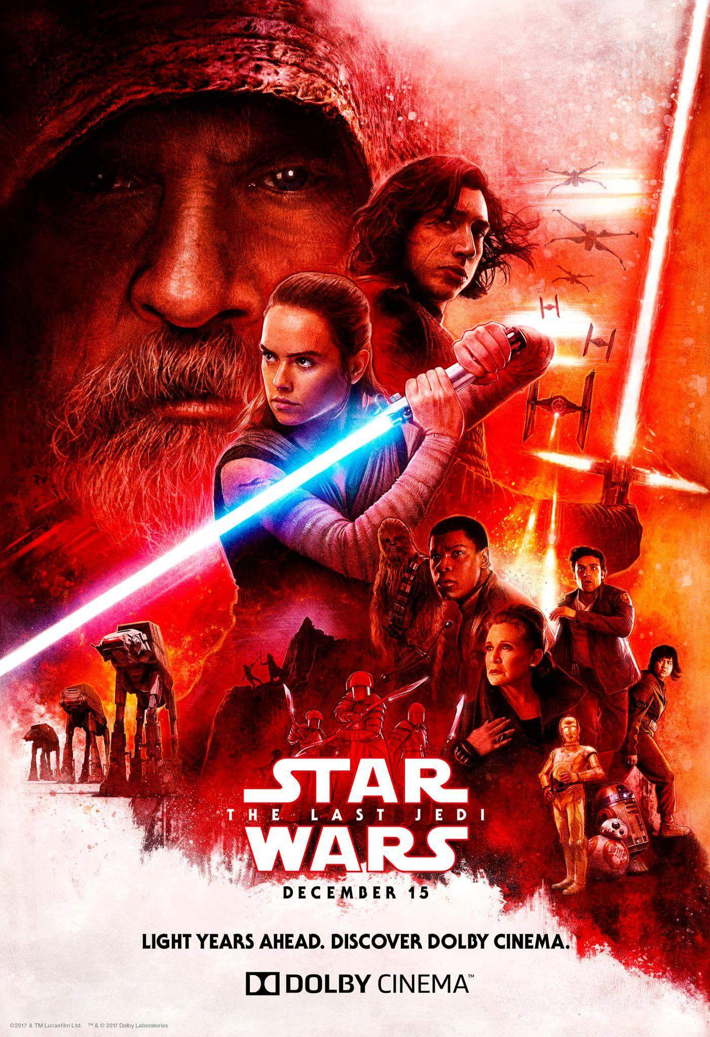 Dolby Cinema Release Their Own Star Wars The Last Jedi Poster Star Wars The Rise Of Skywalker Movie News