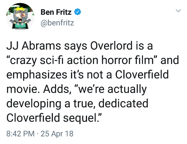 A true, dedicated sequel to the first Cloverfield movie is