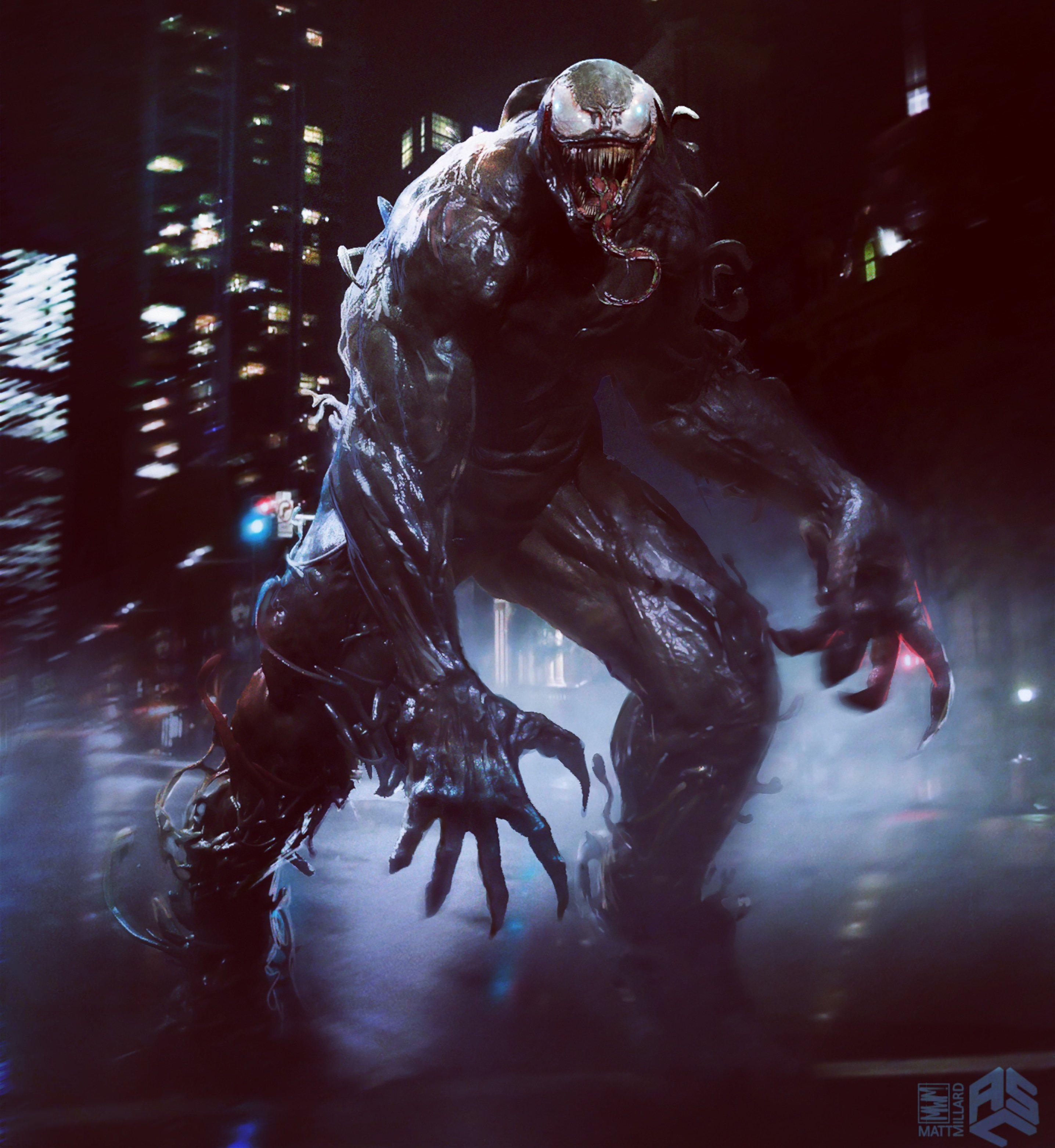 Early Official Venom 2018 Movie Concept Art By ASC