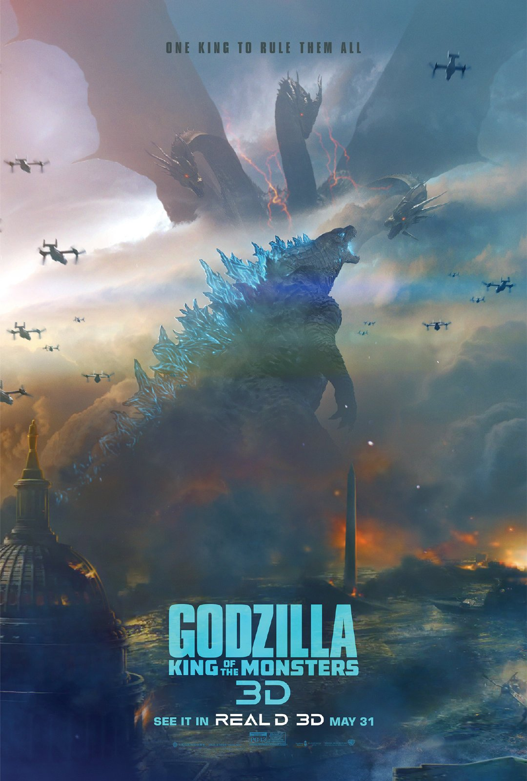 0bcc82592c4 Two new movie posters for Godzilla 2 King of the Monsters have been  revealed by IMAX and RealD 3D in preparation for the King's arrival this  month!