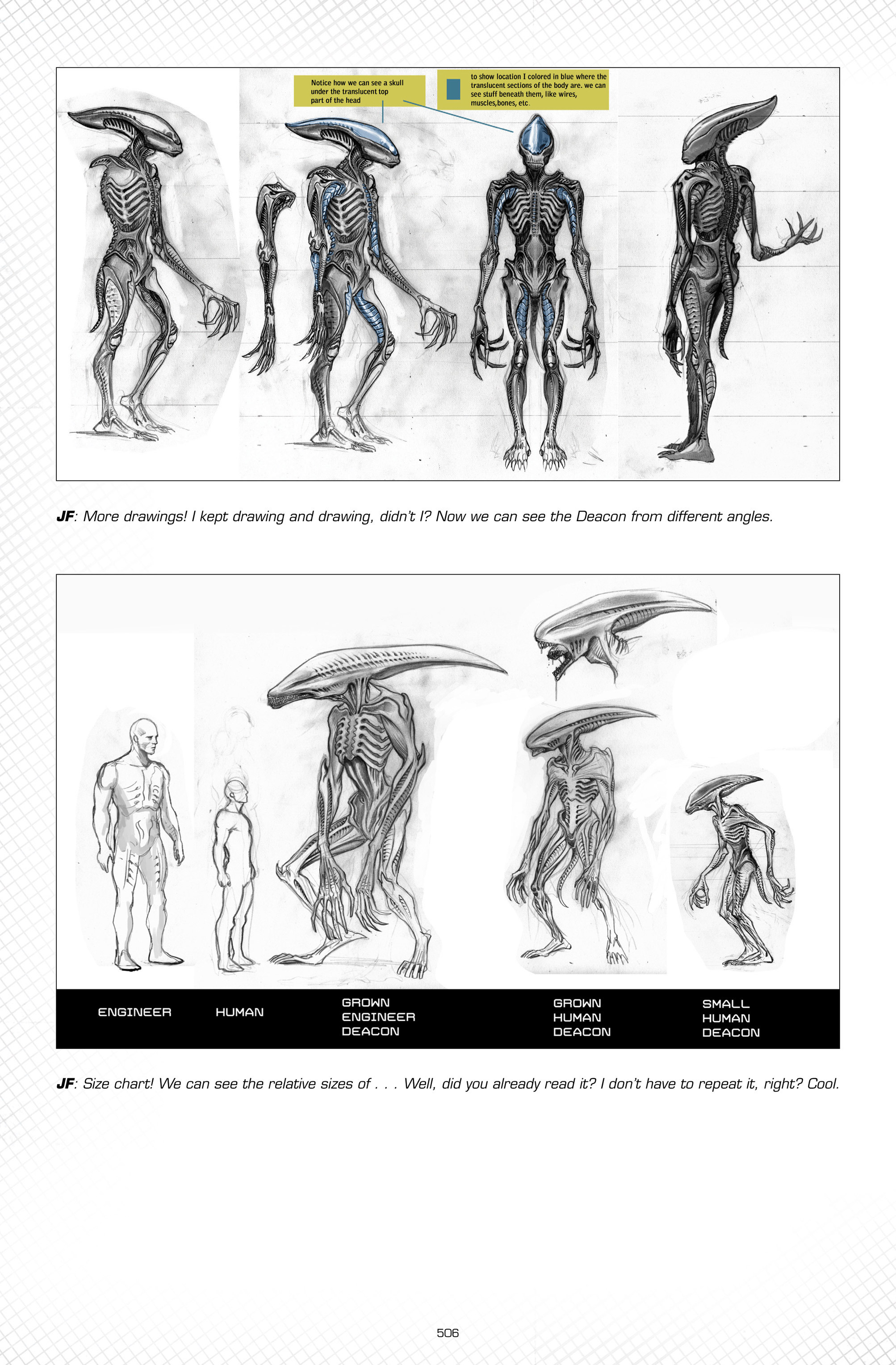 Unused Deacon concept designs from fire and stone comics