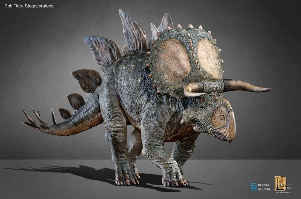 What the Stegoceratops would have looked like if it was in JW. V01_004_B_Pose_Color_B-1024x676