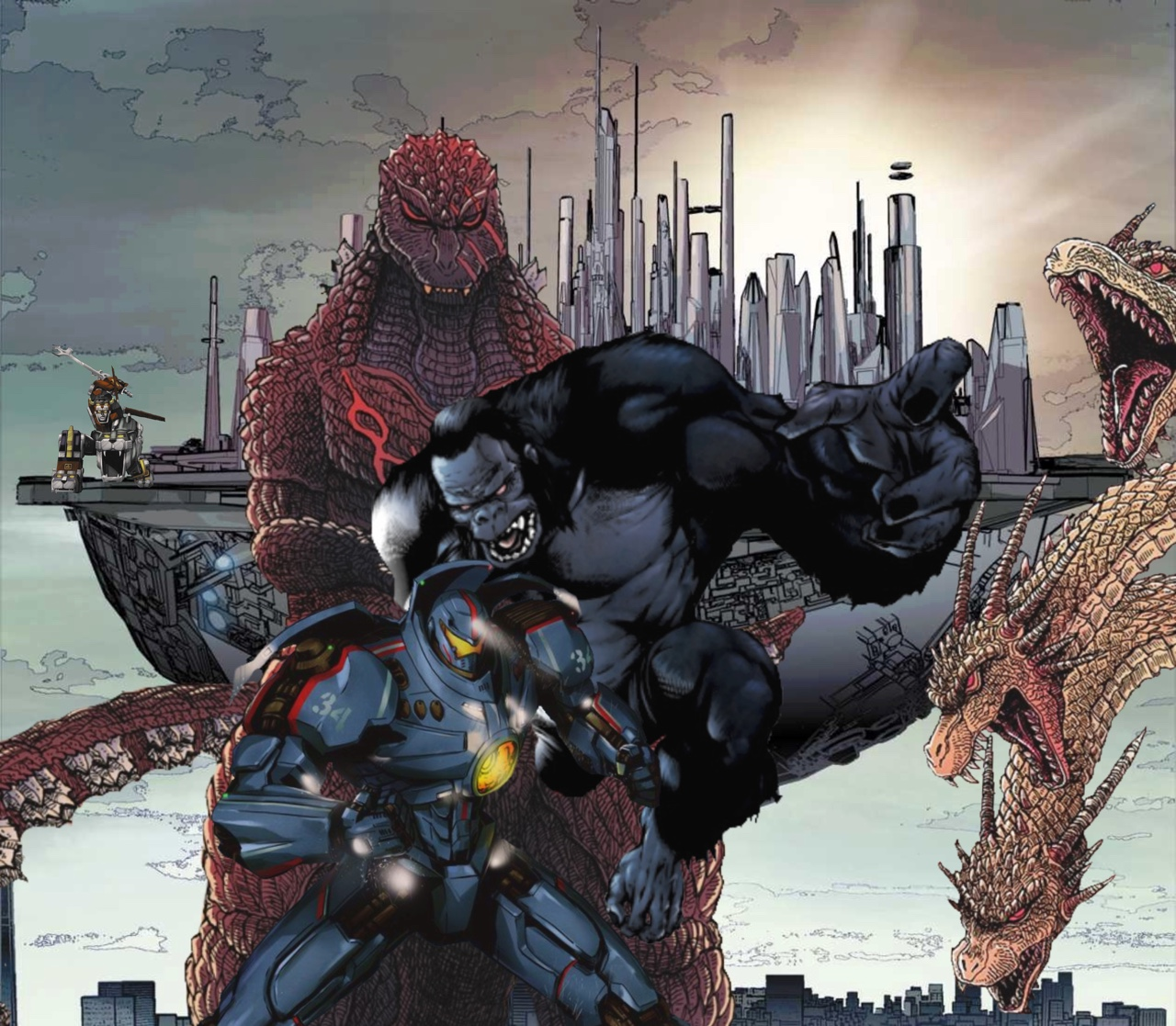 Pacific Rim vs. Godzilla Monsterverse movie crossover ... Pacific Rim Vs Godzilla