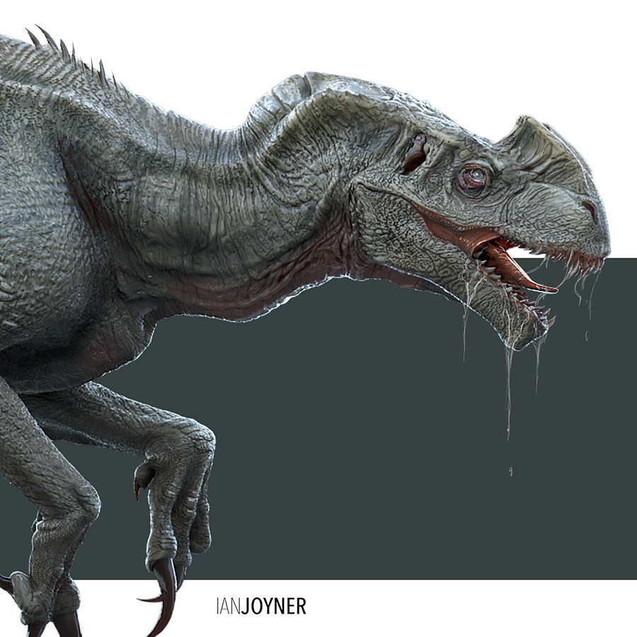Early Indominus Rex concepts show a very different Dinosaur